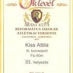 oklevél Kiss Attila