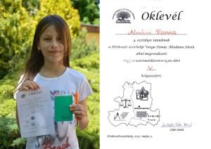 Almási Hanna megyei matematika verseny